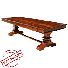 large trestle dining table solid wood trestle pedestal large rectangle dining table