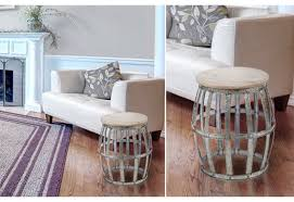 marvelous metal drum accent table with vince metal clad accent