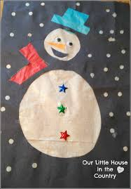 snowman stained glass windows tissue paper house in the country