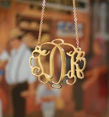 gold plated monogram necklace 18k gold plated vine script monogram necklace be monogrammed