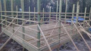 pole barn wood floor system for 30x32 building