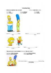 simpsons comparative adjectives