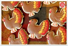 thanksgiving turkey cut out cookies