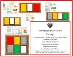 lots of free printables for montessori addition stage 1 stage