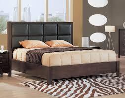 Upholstered Headboard Bedroom Sets Piece Wenge Bedroom Set With Leather Upholstered Headboard