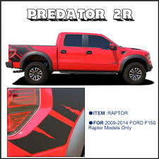 Raptor Ford Truck 2011 - body rear tail side graphic vinyl decals for ford ford f150 raptor