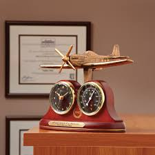 Desk 51 P 51 Mustang Tribute Desk Clock And Thermometer From Sportys