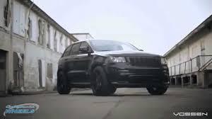 srt8 jeep black 2015 grand cherokee srt8 with black vossen wheels youtube