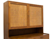mid century danish cabinetmaker tall cabinet sideboard hutch in teak