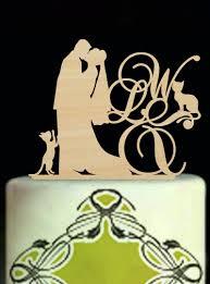 wedding cake mariage wood wedding decoration initial cake toppers personalised cake