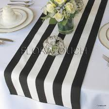 black and white table runners cheap black and white striped table runner wedding table runner