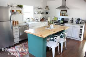 colorful kitchen islands live edge kitchen island thewhitebuffalostylingco
