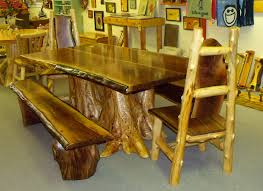rustic log dining room tables furnitures rustic log dining room table sets idea log furniture