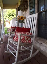 Red Rocking Chairs Height Back White Oak Wood Porch Rocking Chairs Which Slicked Up