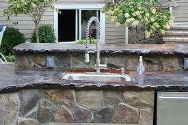 outdoor kitchen countertops ideas best outdoor countertop ideas homesfeed