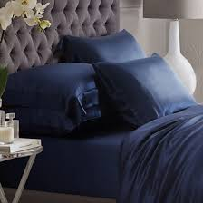 navy silk bed linen from the finest mulberry silk