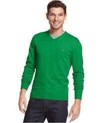 hilfiger sweater mens hilfiger pima cotton and blend v neck sweater