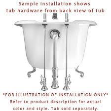 Clawfoot Tub Fixtures Chrome Deck Mount Clawfoot Tub Faucet W Hand Shower W Drain