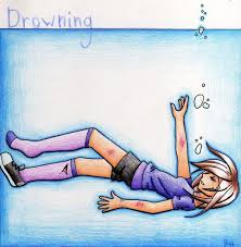 drowning cartoon sketch poison world