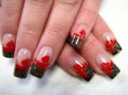 red and black nail designs nailspedia