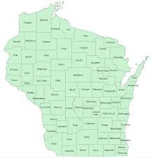Wisconsin County Map by Atlas County Coordinators Wisconsin Society For Ornithology
