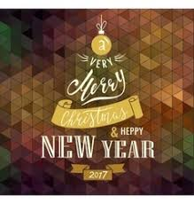 merry and happy new year lettering vector image