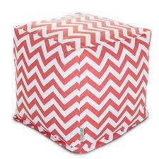 Coral Ottoman Cubes Poufs Footstools Majestic Home Goods