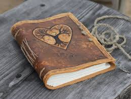 leather wedding guest book wedding guest book tree of with heart leather journal