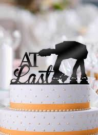 wars wedding cake topper at last atat imperial walker wars wedding cake topper
