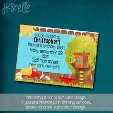 Backyard Birthday Party Invitations by Treehouse Birthday Invitations Product No 145 Backyard