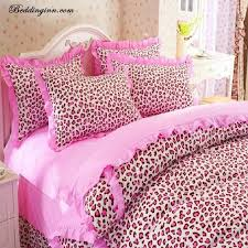 fair pink cheetah print bedding stunning home decoration for