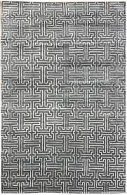 Modern Gray Rug Interconnection Modern Geometric Rug J25187