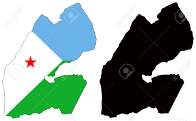 Djibouti Map Vector Map And Flag Of Djibouti Royalty Free Cliparts Vectors