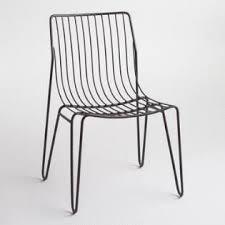 black metal amara hairpin stacking chairs set of 2 dining room