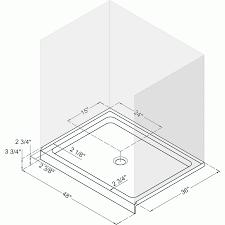 shower 32 x 48 shower base shiftinfocus 32 x 32 corner shower