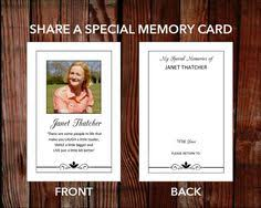 custom funeral program template looking glass by
