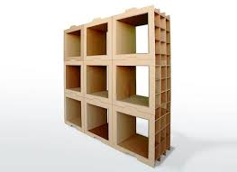 Bookcase Modular Moving Boxes Diy Modular Cardboard Recycling Bookcases