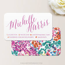 floral business card modern floral business card mallory design