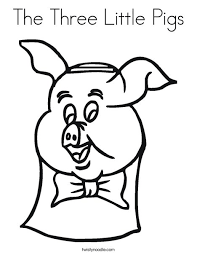 3 pigs coloring children books