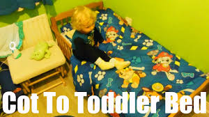 Transitioning To Toddler Bed Moving Two Year Old From Cot To Toddler Bed Youtube