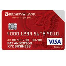 Visa Business Card Broadway Business Banking Business Credit Card Broadway Bank