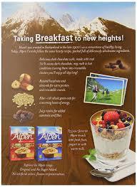 amazon com alpen muesli cereal dark chocolate 11 8 ounce pack