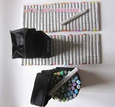 free shipping 48 colors finecolour sketch marker set for fashion