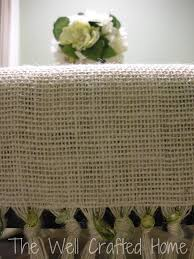 how to make table runner at home the well crafted home made by me monday 7 burlap table runner