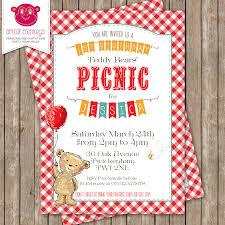 personalised teddy bears u0027 picnic invitation diy printable or