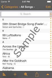 linkesoft songbook your lyrics and chords on iphone and