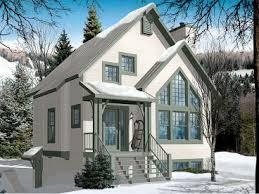 mountain home plans narrow lot chalet house plan 027h 0353 at