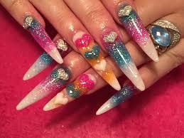 acrylic nails long sculpted stiletto using brillbird youtube