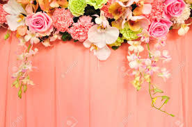 wedding flowers background beautiful flowers blossom on pink curtain background for wedding