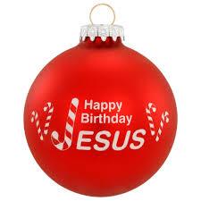 happy birthday jesus candy cane tradition glass ornament